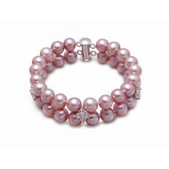 Freshwater Pearl Bracelet 7.5-8.0mm Double Strand with G