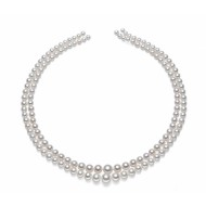 Freshwater Pearl Necklace 7.5-11.5mm AAA Double Strand