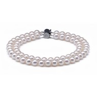 Akoya Pearl Bracelet 6.5-7.0mm White AA+/AAA Double Strand