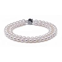 Akoya Pearl Bracelet 7.0-7.5mm White AA+/AAA Double Strand