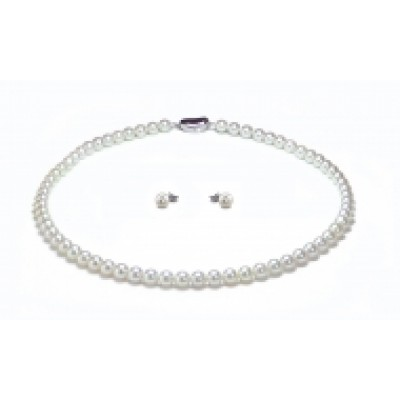 HANADAMA Akoya Pearl Necklace 7.0-7.5mm White