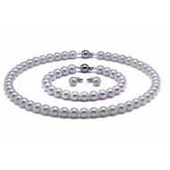 Akoya Pearl Set 8.0-8.5mm White AAA Quality
