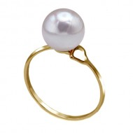 Akoya Pearl Ring 8.0-9.0mm White AAA Quality-Heart Shape