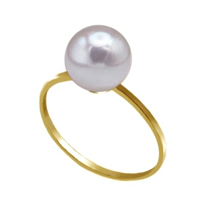 Akoya Pearl Ring 8.0-9.0mm White AAA Quality-Pure and Simple