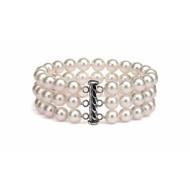 Freshwater Pearl Bracelet 6.0-7.0mm White Triple Strand