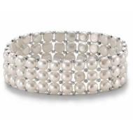 Freshwater Pearl Bracelet 6.0-7.0mm White AAA Triple Strand