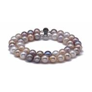 Freshwater Pearl Bracelet 7.5-8.0mm Metallic AAA Double Strand
