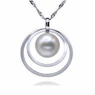 Freshwater Pearl Pendant 10-12mm White AAA-Spellbound