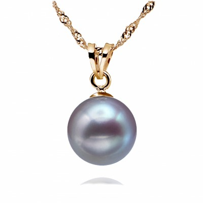 Freshwater Pearl Pendant 8.0-11.0mm Lavender AAA Quality-Allure