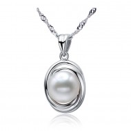 Freshwater Pearl Pendant 9-11mm White Innocent