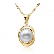 Freshwater Pearl Pendant 9-11mm Yellow-Innocent