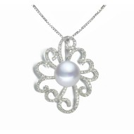 Freshwater Pearl Pendant 11.0-13.0mm White AAA-Rosy clouds