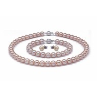 Freshwater Pearl Set 8.5-9.5mm Pink