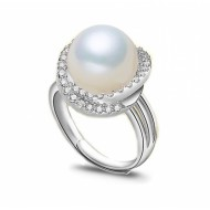 Adjustable Freshwater Pearl Ring 9.0-10.0 mm AAA