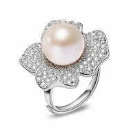 Adjustable Freshwater Pearl Ring 11.0-13.0 mm AAA