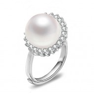 Adjustable Freshwater Pearl Ring 8.0-9.0 mm AAA-Galaxy