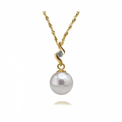 Akoya Pearl Pendant 7.0-9.0mm White AAA Quality-Heavenly Swirl