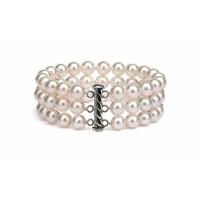 Freshwater Pearl Bracelet 6.0-7.0mm White AA+/AAA Triple Strand