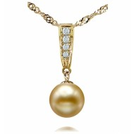 South Sea Pearl Pendant 10-12mm Golden AA+/AAA-Dune