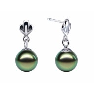 Tahitian Pearl Earrings 9.0-10.0mm AA+/AAA Quality