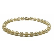 South Sea Pearl Necklace 10-12mm Golden AA+ Decorating Stone