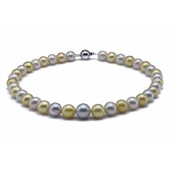 South Sea Pearl Necklace 10-12mm Mixed Colour AA+ Quality