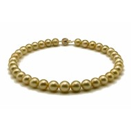 South Sea Pearl Necklace 10-12mm Dark Golden AAA Quality