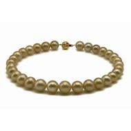 South Sea Pearl Necklace 11.3-13.8mm Dark Golden AAA Quality