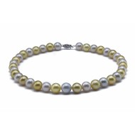 South Sea Pearl Necklace 9.0-11mm Mixed Colour AA+ Quality