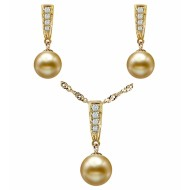 South Sea Pearl Set 10.0-12.0mm Golden AAA Quality-Dune