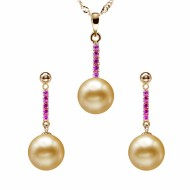 South Sea Pearl Set 10.0-11.0mm Golden Sensuous