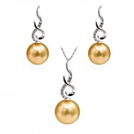 South Sea Pearl Set 11.0-13.0mm Golden AAA Quality