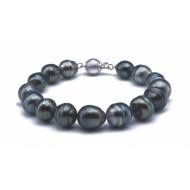 Tahitian Pearl Bracelet 10-11mm Black AA+ Baroque