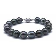 Tahitian Pearl Bracelet 10-11mm Black AAA Baroque