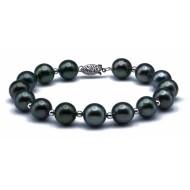 Tahitian Pearl Bracelet 10-11mm Peacock AA+ Quality
