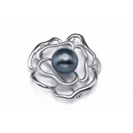 Tahitian Pearl Brooch 12-15mm Black AAA Quality