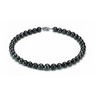 Tahitian Pearl Necklace 10-12mm Black AAA Quality