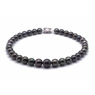 Tahitian Pearl Necklace 10.2-13.5mm Black AA+ Quality