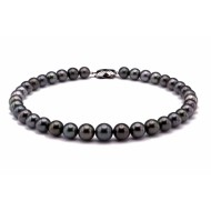 Tahitian Pearl Necklace 9.0-12.0mm Black AAA Quality