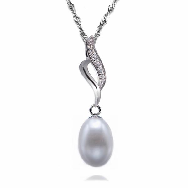 Freshwater Pearl Pendant 7.0-8.0mm White AAA Drop-Ethereal