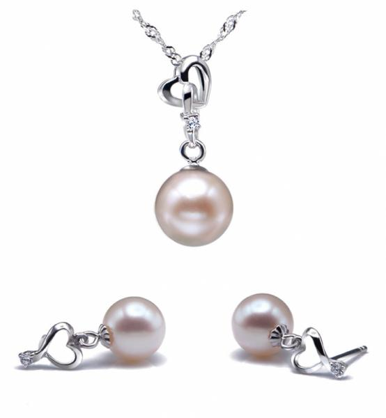 Freshwater Pearl Set 8.0-11.0mm White AAA Quality