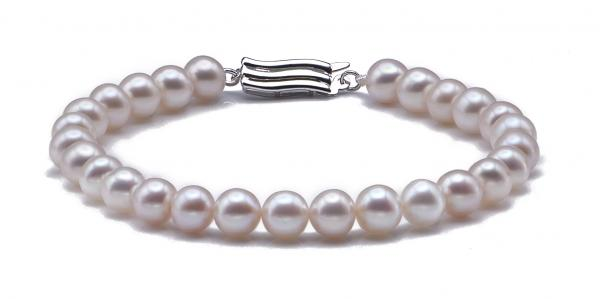 Freshwater Pearl Bracelet 6.0-7.0mm White AA+ Quality