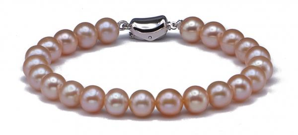 Freshwater Pearl Bracelet 7.5-8.0mm Pink AAA Quality