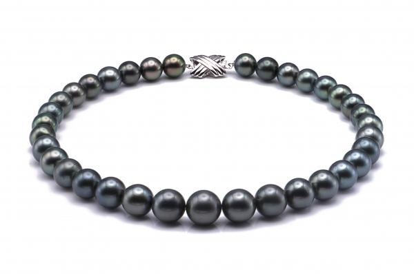 Tahitian Pearl Necklace 10-12.8mm Peacock AAA Quality