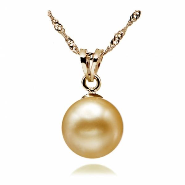 South Sea Pearl Pendant 9-10mm Golden AA+/AAA-Allure