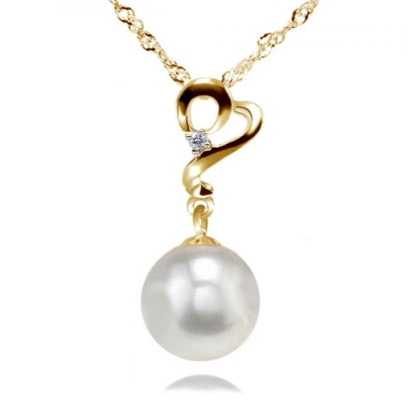 Akoya Pearl Pendant 7.0-9.0mm White AAA Quality- Enchantress