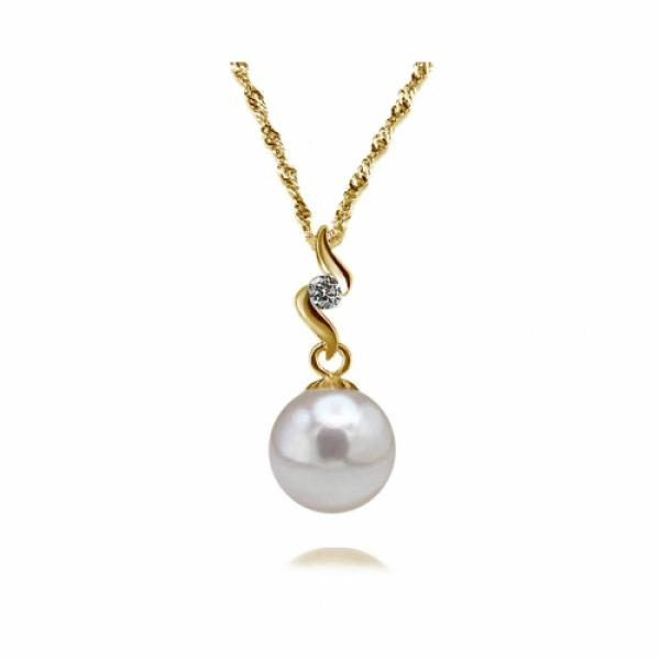Akoya Pearl Pendant 7.0-9.0mm White AAA Quality-Heavenly Swirl