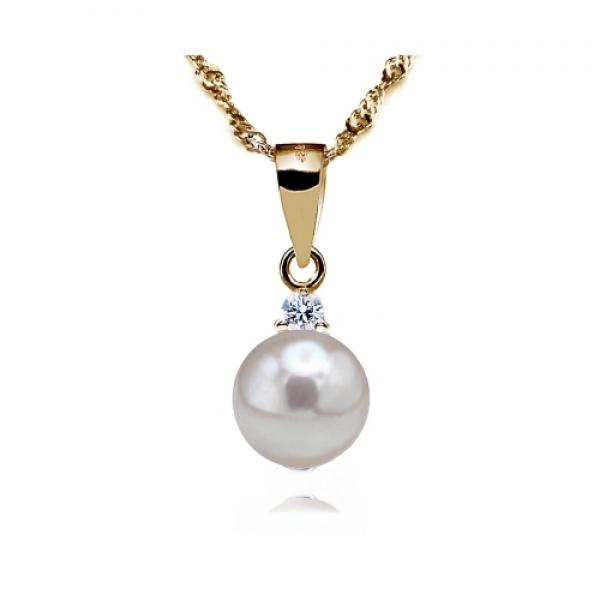 Akoya Pearl Pendant 7.0-8.0mm White AAA Quality-Mesmerize