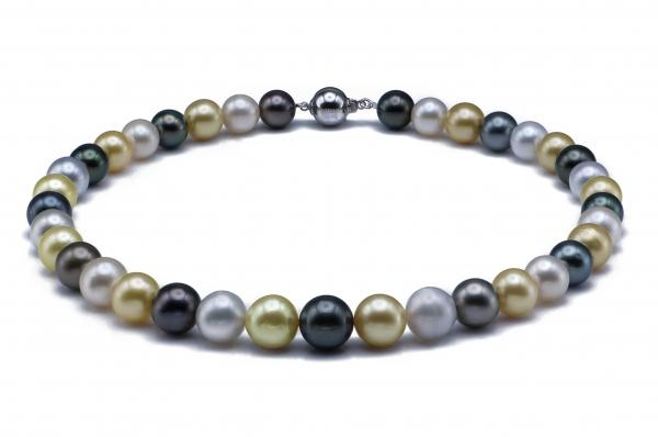 Tahitian and SouthSea Pearl Necklace 10.0-12.0mm AAA Quality