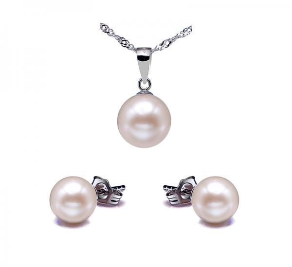 14K Gold Freshwater Pearl Set 8.0-10.0mm AAA